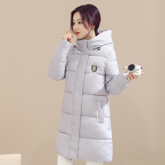 2016 Nova Moda Casaco de Inverno Para Baixo Casaco Mulheres Casacos Básicos longo Quente Jaqueta de Cultivar A Moralidade Tamanho Grande Feminino Acolchoado Parka