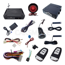 Universal Car PKE Alarm System With Push Button Start Engine & Remote Trunk Release & Shock Sensor Function