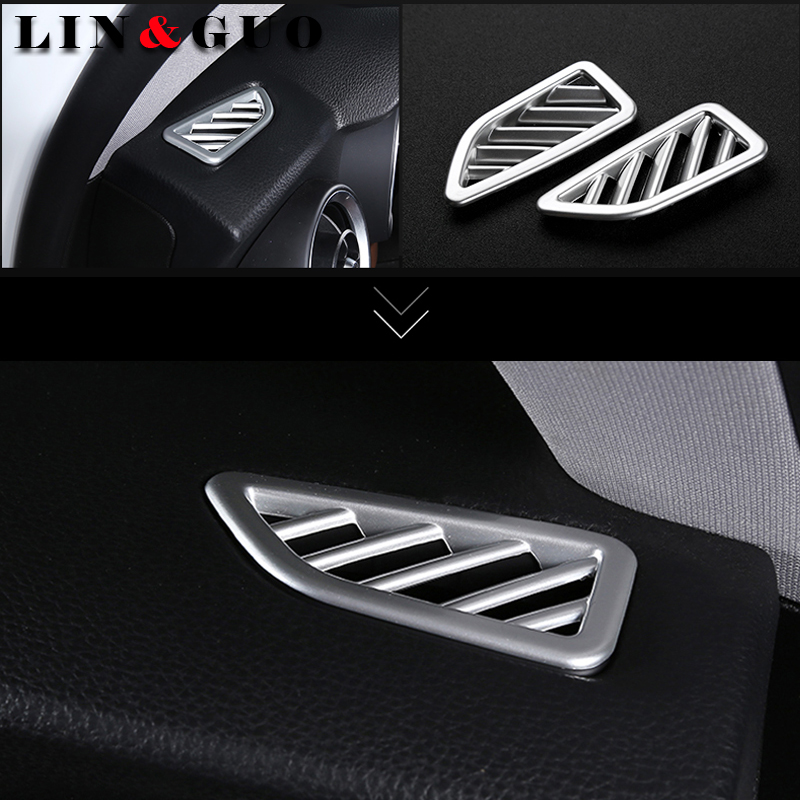 2pcs Car Styling Dashboard Air Conditioning Vent Outlet Frame Cover Trim Hub Caps For Alfa Romeo Stelvio 2017 Car Accessories