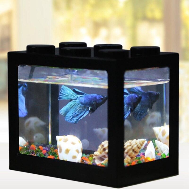 Betta Fish Fighting Cylinder Rumble Fish Cylinder Mini Aquarium Building Block Fish Tank spülbecken sieb
