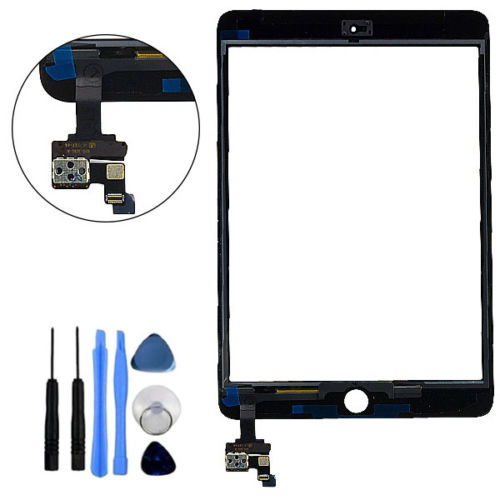 Pour iPad Mini 1 & 2 Verre Digitizer Écran Tactile IC Puce Assemblée Flex retour ou blanc replacment pas original