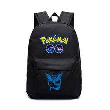 Pokemon ИДТИ Черный Рюкзак Плечи Мешок Сумка Для Ноутбука Мешок Школьный Красный Желтый Синий Сумки На Ремне