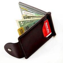 money clip wallet designer bppt  Wallet Men Leather Money Clip Powerful Top Quality Leather Men Wallets  Purse Thin Male clutch Hasp Holder HOT Sale !!