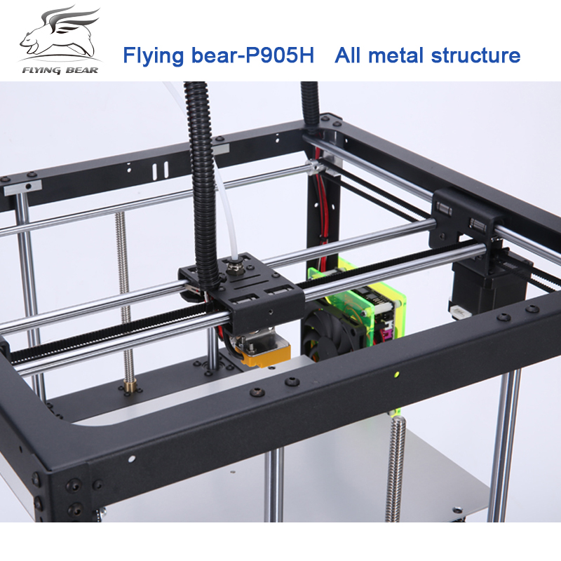 2018 Newest Flyingbear  P905H DIY 3d Printer kit Full metal Large printing size High Quality Precision Makerbot Structure Gift rq cr 10 3d printer large printing size 300 300 400mm diy desktop 3d printer diy kit filament with heated bed 200g material