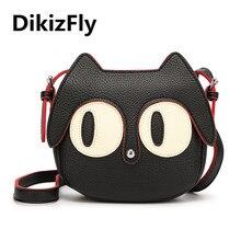 New Cartoon Women Messenger Bags kitten Women Bag Small Pu Lady crossbody Shoulder Bag bolsos Circular lovely Evening bags