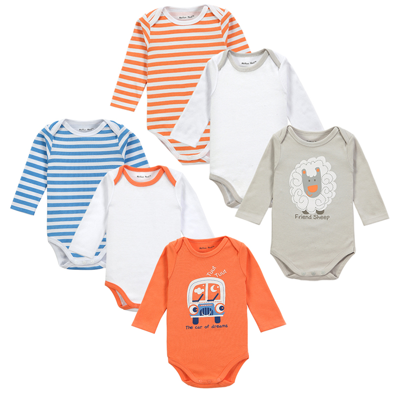 2016 Fashion 6 Pieces/lot Long Sleeve Baby Romper Cute ...