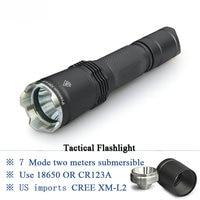 led flashlight Tactical torch hunting flashlight torch Self defense cree xm l2 lanterna rechargeable flashlight light camping