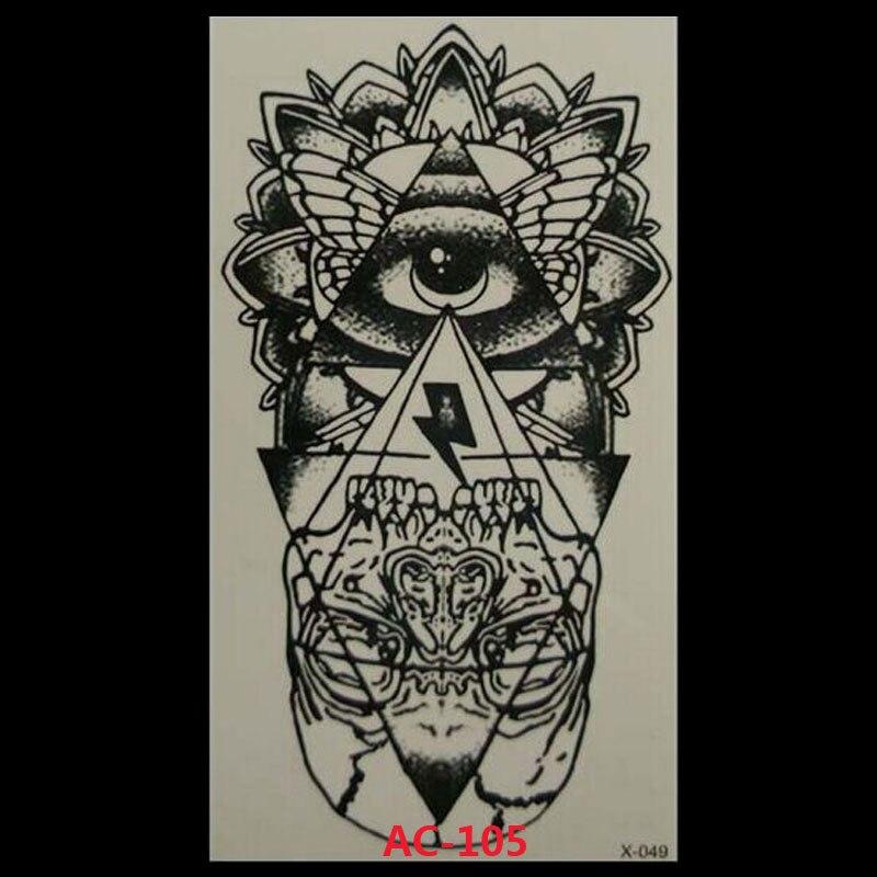 2017 Rushed Waterproof Temporary Tattoo Sticker Eye Of God Totem Body Art Water Transfer Fake Flash Tattoos For Girl Women Men