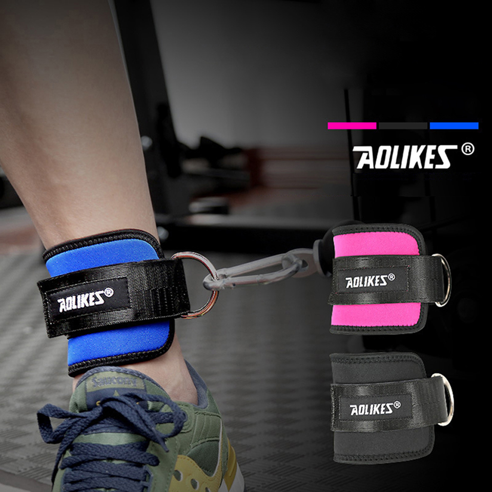 1PCS Ankle Straps Resistance Kinetic Tube Bands Adjustable Leg Strength Training Workout ...