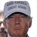 Mulheres Homens Unisex Fazer a América Grande Novamente Moda Letra Impressa Donald Trump Splicing Malha Caps Chapéus Ajustável Branco/Vermelho