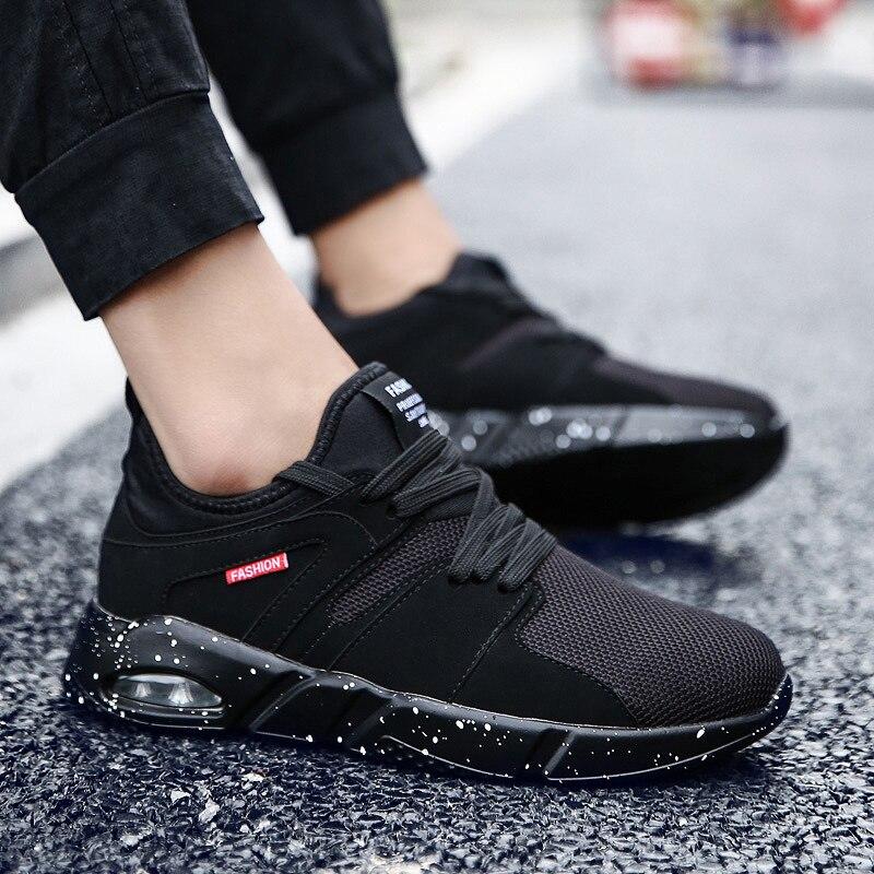 Black Para Moda Confortável Leves Sapatos Aumento gray Em Juventude Respirável blackwhite Homens Adultos Bom Calçado Tênis Voga Casuais Maré Bx4npaq