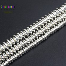 Perles en hématite couleur argent pour la fabrication de bijoux, perles en pierre naturelle, lot de 180 pièces, perles d'espacement, bricolage, 4mm, 6mm, 8mm