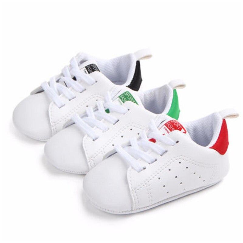 0-18 Mt Neugeborenen Baby Weiche Sohle Krippe Schuhe Lace Up Weiche Sohle Pu Casual Turnschuhe Alle Saison Baby Junge Mädchen Shoess
