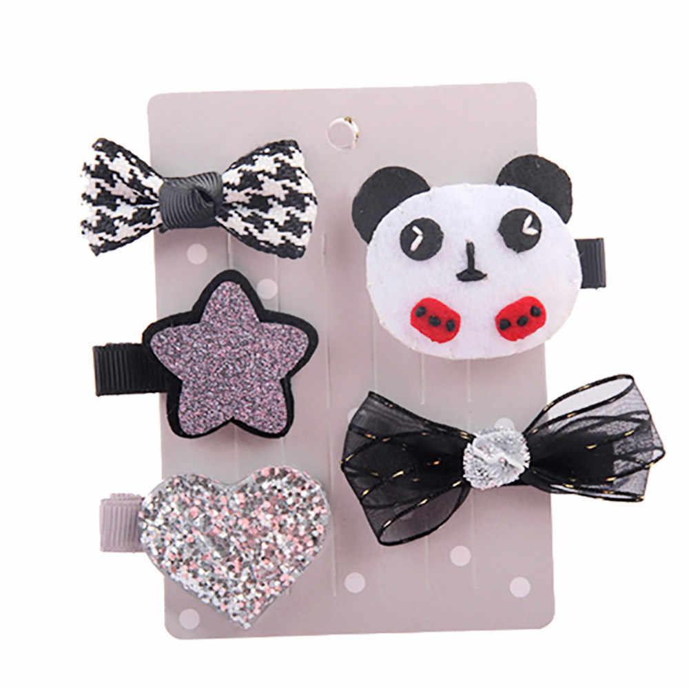 5 unids/set diadema para Niña Accesorios para el cabello de bebé cinta para la ropa diadema floral para recién nacidos tiara diadema para la cabeza diadema para niños pequeños
