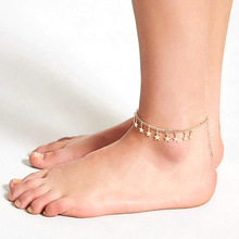 Fashion Exquisite Star Pendant Anklets Tassels Foot Chain Bohemian Summer Beach Ankle Bracelets for Women Jewelry