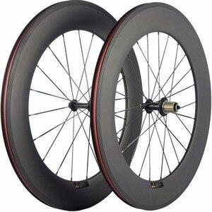 Image 5 - Paire de roues de vélo en carbone Ultra léger 38/50/60/88mm roues de pneu en carbone roue de vélo de route tubulaire Surface de freinage en basalte