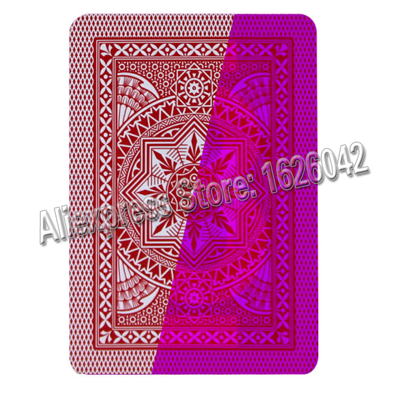 ФОТО Marked Trick Poker XF Modiano Plastic Playing Cards Marked Cards for Contact Lenses Magic Poker Invisible Pen Marker
