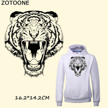 ZOTOONE Personalized Tigers iron on Patch Ironing Stickers For Clothes Heat Transfer A-level Washable Applique Christmas Gift C
