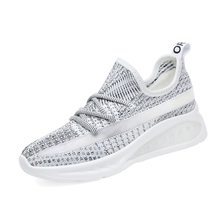 Shoes Woman 2019 Canvas Breathable Sneakers Women Wedges Platform Ladies Casual A0008