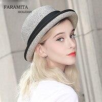 Faramita Holiday Sun Hats Female Spring Summer New Little Weaving Foldable Women Sunscreen Straw Hat Fashion Elegant Ladies Caps