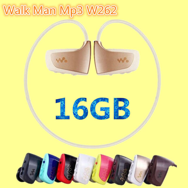 New High quality NWZ-W262 16GB sport MP3 music player for sony walk man mp3 earphone hot sale running mp3 player 16GB headphones