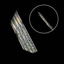 100 stücke 3 reihen 16 pins Nadel Permanent Augenbraue Makeup Nadel Microblading Klingen Für 3D Tattoo Tobori Stift Manuelle Stickerei