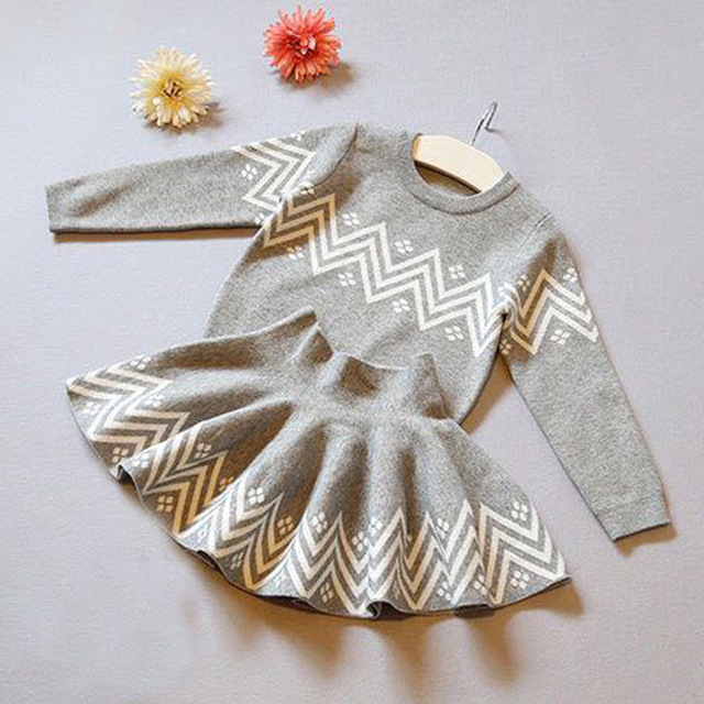 2016 Autumn Girl Knitting Baby Boy Clothing Sets Christmas Kids Girls Boys Clothes
