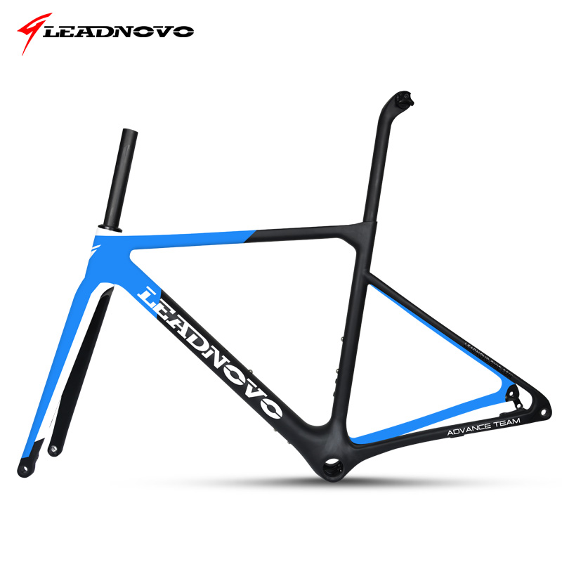 купить 2019 Newly Disc Brake Frame Carbon Road Frame UD matte glossy Di2&Mechanical racing fiber bike frameset can customized paint недорого