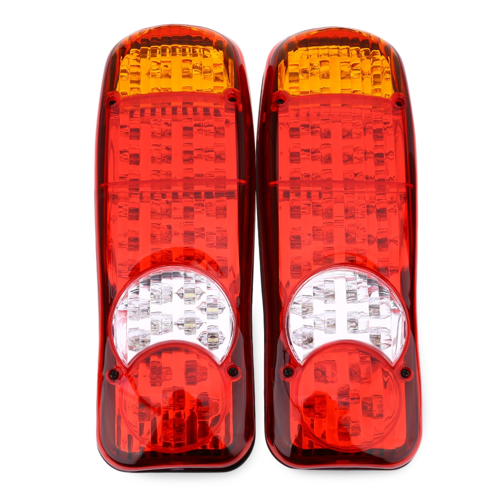 ФОТО More Than 50000 hours lifespan 1 Pair of 12V Multifunctional Trailer Truck Rear Tail Stop LED Signal Light