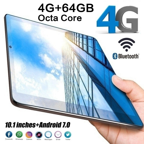 Phone Tablet Bluetooth-Wifi Dual-Camera Android 64G PC New 10-Call title=