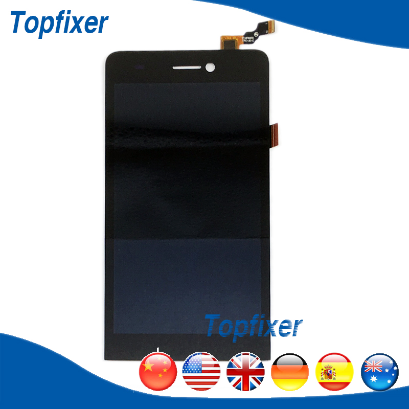 ФОТО Black LCD Full Complete For Highscreen Spider LCD Display Touch Screen Digitizer Assembly Replacement Parts 1PC/Lot