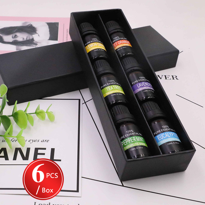 6pcs/lot Natural Essential Oils For Aromatic Aromatherapy Diffusers Aroma Oil Lavender Lemongrass Tree Oil Natural Essential Oil
