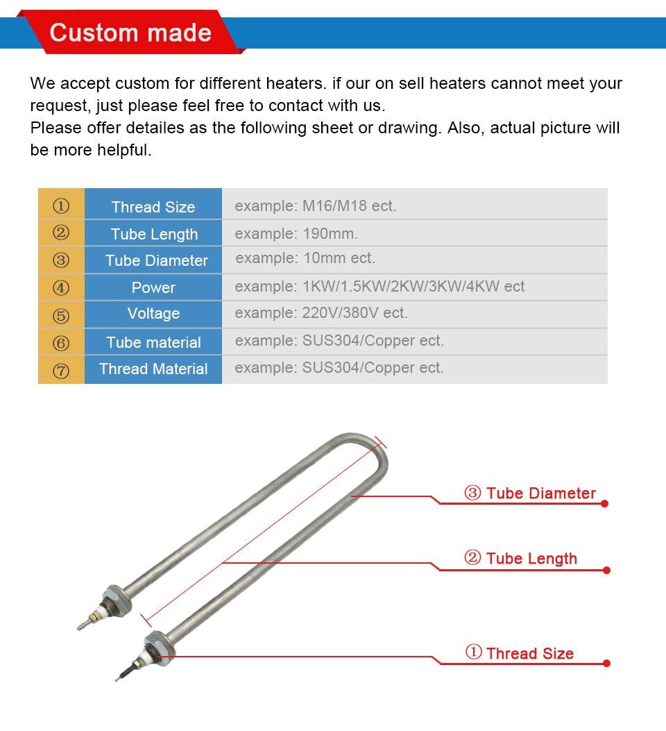 elétrico elemento para aparelhos de cozinha 304