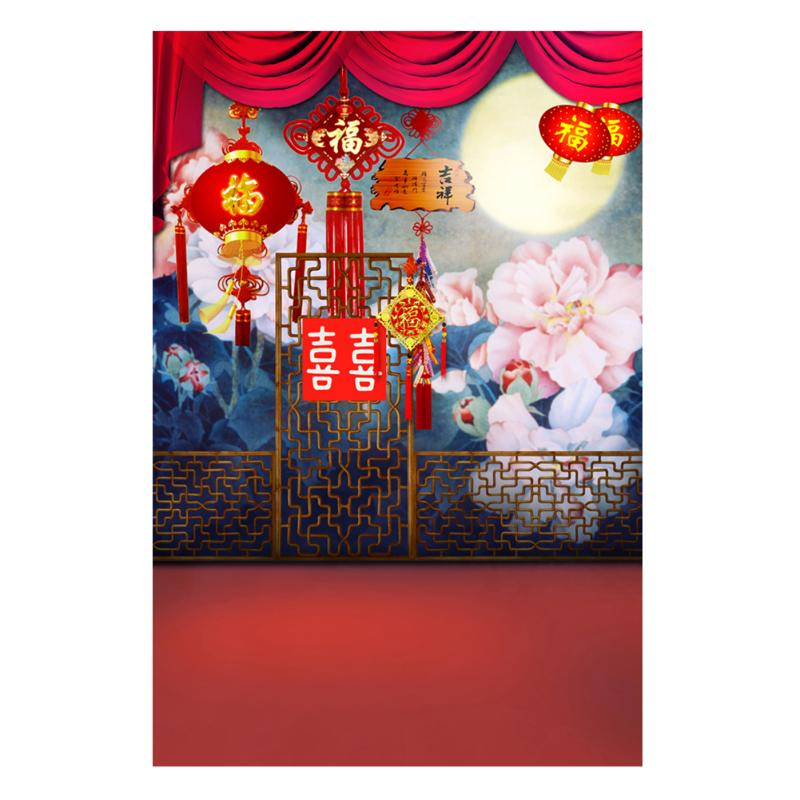 Alloyseed 0.9x1.5m Chinese New Year Rivers Background Chinese Scenery Theme Photo Studio Photography Props Cloth Fabric Backdrop