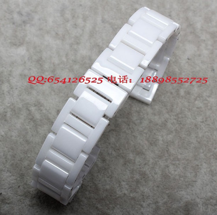 White Ceramic Watchbands width 14mm 16mm 18mm 20mm Strap NEW Fashion Watch watchband for SHN 5010L