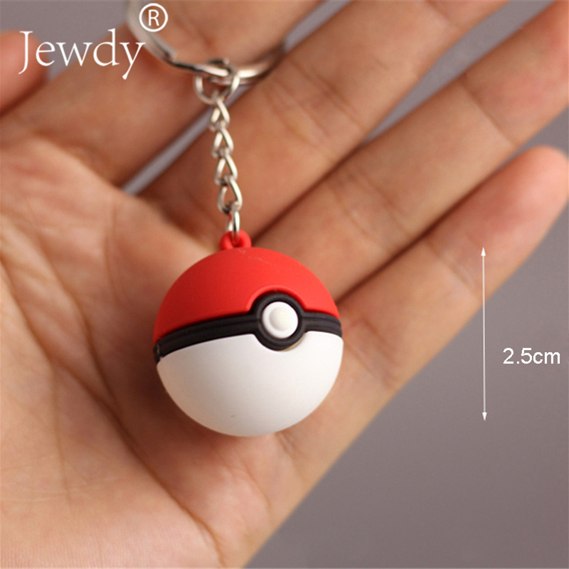 3D Anime Key Ring Poke Ball Keychain Key Holder Pendant Mini Charmander Squirtle Bulbasaur Figure Toy new arrival 6pcs 1set 3cm hand sized anime pokeball key chain ring abs toy super master children toy juguetes original box