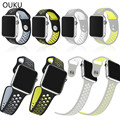 OUKU Silicon Band For Nike Watch For Apple Watch 42mm / 38mm Soft Rubber Wrist Strap Wristband Bracelet For iWatch Watchband
