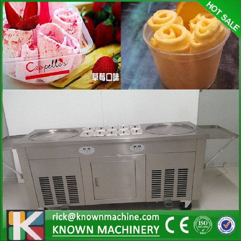 2 round ice pans and 10 topping tanks of ice cream roll machine with R410A Refrigerant (Free shipping by sea) фролов и ред океанография и морской лед oceanography and sea ice