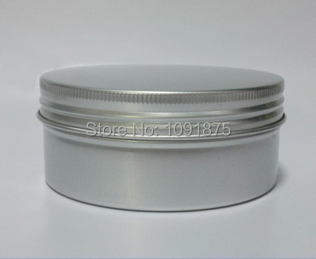 Free shipping 60ml aluminium jars 60g Aluminum Screw Top Tins comestic containers with screw thread