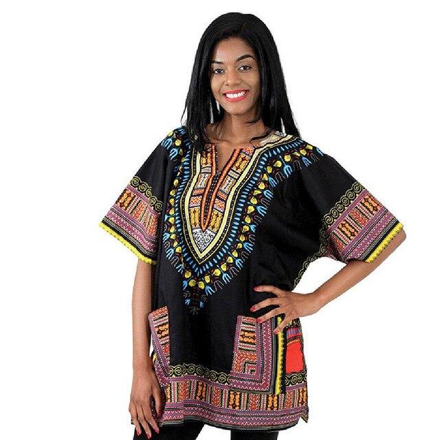 2016 Традиционных Африканских Одежды Печати Dashiki Топы Дизайн Одежды Африканских Базен Riche Одежды Футболку Женщины Платья Dashiki Мужчин