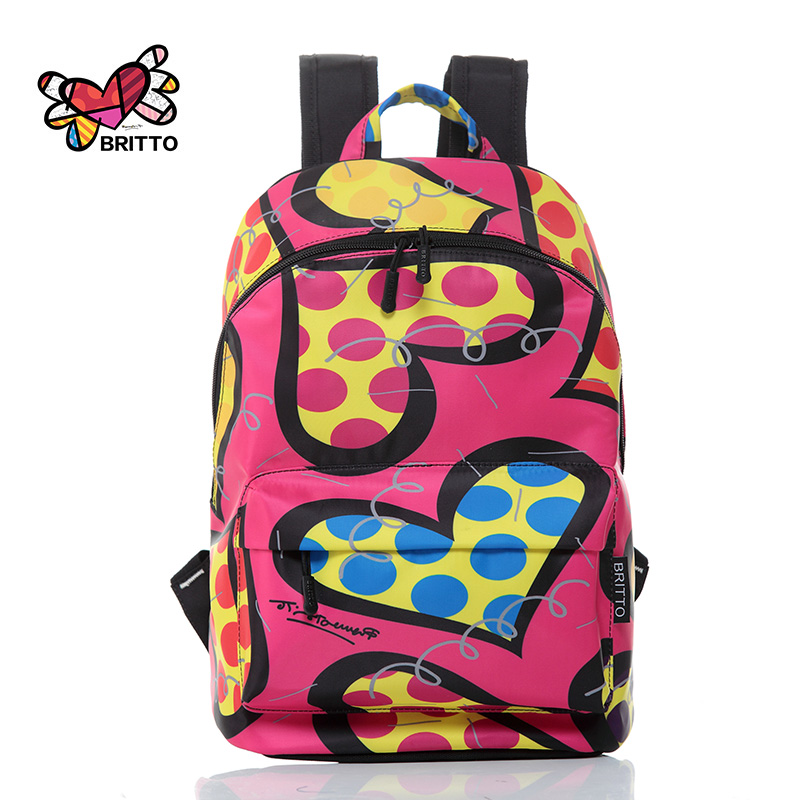 ФОТО 2016 new women Satin printing backpack fashion shoulder bag casual schoolbags mochila Girl's backpacks Graffiti unisex rucksack