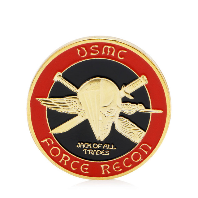 Gold Plated Us Marine Corps Core Force Recon Challenge