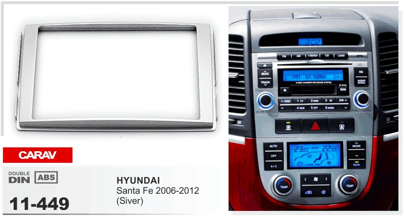 11 449 Top Quality Car Facia Frames For Hyundai Santa Fe 2006 2012 Rhaliexpress: Hyundai Santa Fe Radio Bezel At Gmaili.net