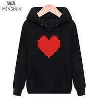 Cool jeu concept 8 peu rétro jeu effet coeur impression hoodies Undertale hoodies unisexe lovers hoodies chaud costume ac730