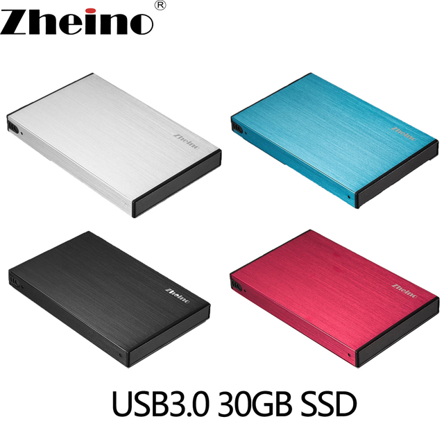Zheino P2 USB3.0 Portable Mobile External Hard Drive Disk SSD 30GB/60GB/120GB Super Speed with 2.5 Inch SATA Solid State Drive