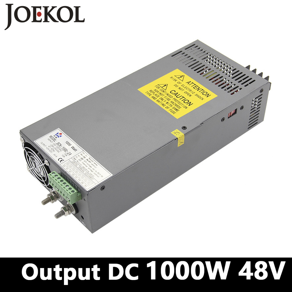High-power Switching Power Supply 1000W 48v 20A,Single Output Industrial-grade Power Supply,AC110V/220V Transformer To DC 48V