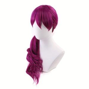 Image 3 - Agonia uścisk K/DA Evelynn czerwonawy fiolet długa peruka przebranie na karnawał KDA kobiety żaroodporne syntetyczne peruki do włosów