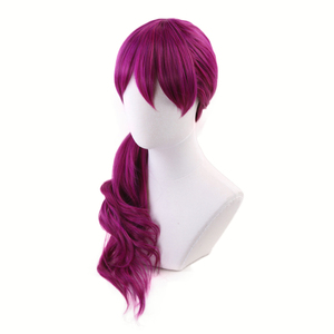 Image 3 - Agonys Embrace K/DA Evelynn Reddish Violet Long Wig Cosplay Costume KDA Women Heat Resistant Synthetic Hair Wigs