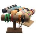 Unique Cord Bangle Bracelet Stand T Bar Hemp Rope Jewelry Holder Watches Display Rack For Shop Bracelet Storage Shelf Display