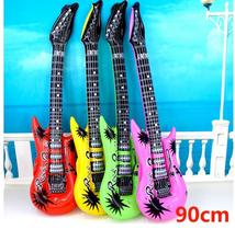 Inflated Toy guitar child musical instrument electric guitar style Beginner learning guitar 90cm
